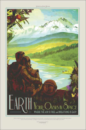 Poster  Earth, your oasis in space
