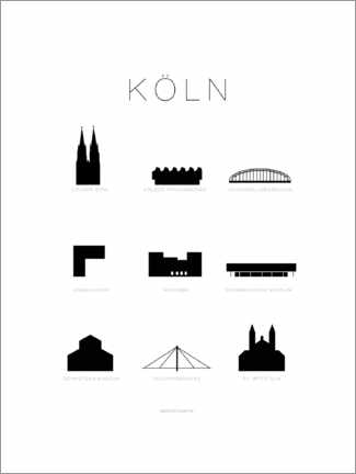 Poster  Cologne - Schumff