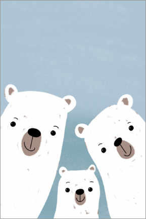 Sticker mural  Famille d'ours polaires - Julia Reyelt