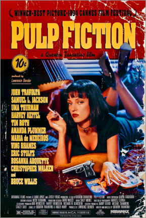 Tableau en plexi-alu  Pulp Fiction (anglais) - Entertainment Collection