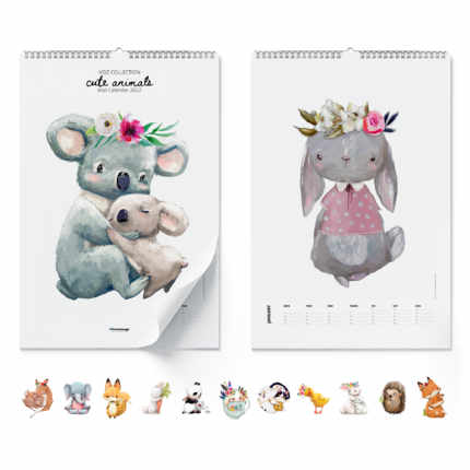 Calendrier mural  Cute Animals 2021