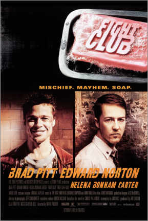 Poster  Fight Club (anglais) - Entertainment Collection