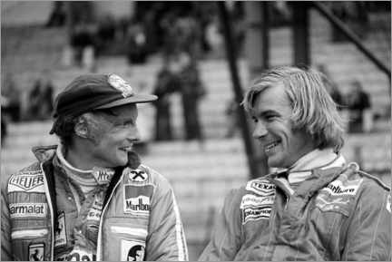 Poster  Niki Lauda et James Hunt, Formule 1, GP de Belgique 1977