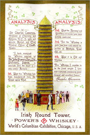 Tableau sur toile  Irish round tower (anglais) - Advertising Collection
