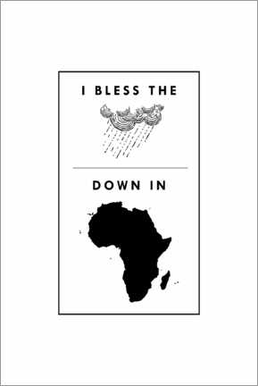 Tableau en verre acrylique  I bless the rains down in Africa - Typobox