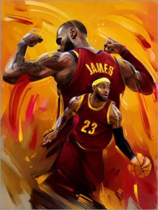 Tableau en bois  LeBron James - Dmitry Belov