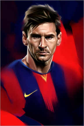 Tableau en PVC  Lionel Messi - Dmitry Belov