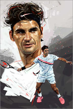 Tableau en plexi-alu  Roger Federer - Dmitry Belov