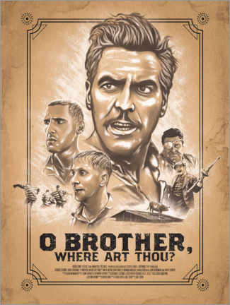 Tableau en PVC  O Brother, Where art thou - The Usher designs
