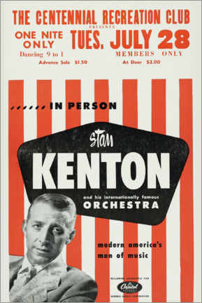 Poster  Stan Kenton and his orchestra - Entertainment Collection