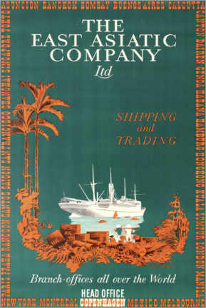 Poster  The East Asian Company - Travel Collection