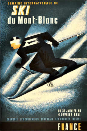 Poster  Semaine internationale de ski du Mont-Blanc - Advertising Collection