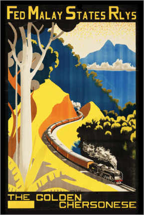 Poster  Federated Malay States Railways - Travel Collection