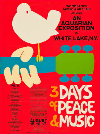 Poster  Woodstock Festival - Entertainment Collection