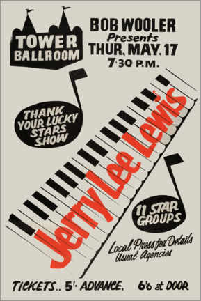 Poster  Jerry Lee Lewis - Entertainment Collection
