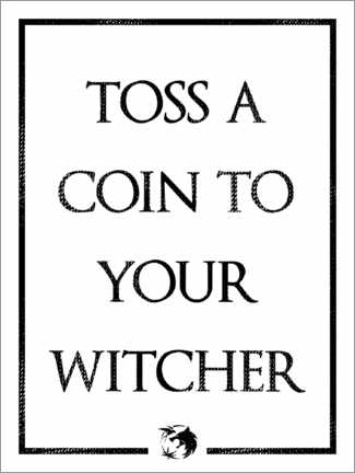 Tableau en bois  The Witcher - Toss a Coin to Your Witcher - Michael Tarassow