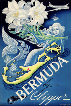 Poster  Bermuda by Clipper - Travel Collection