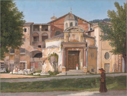 Tableau en aluminium  Section de la Via Sacra, Rome - Christoffer-Wilhelm Eckersberg