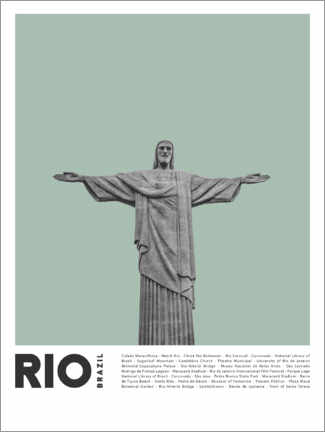 Poster  Attractions à Rio - Finlay and Noa