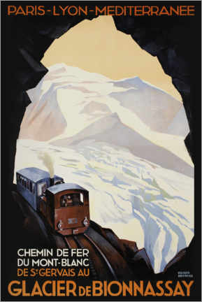 Poster  Chemin de fer du Mont-Blanc - Advertising Collection