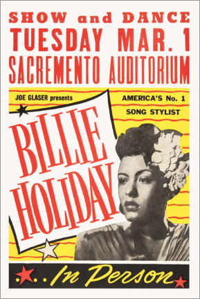 Poster  Billie Holiday - Entertainment Collection