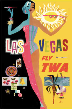 Tableau en plexi-alu  Las Vegas - Travel Collection