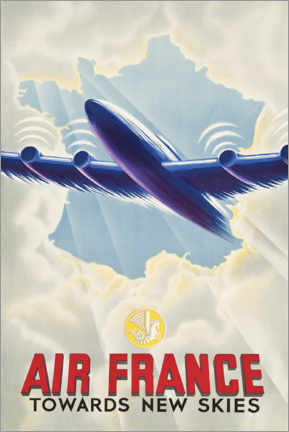 Poster  Air France, Towards New Skies - Travel Collection