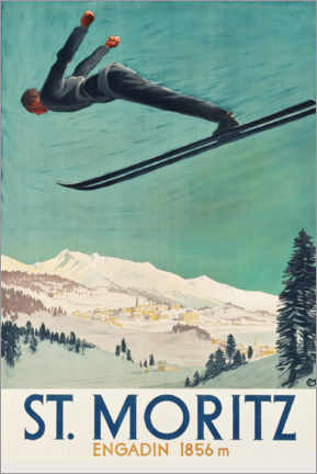 Poster  Saint-Moritz, Engadine - Travel Collection