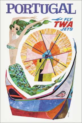 Poster  Portugal, Fly Twa Jets - Travel Collection