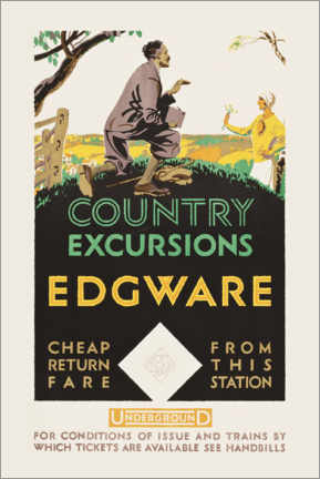 Poster  Country excursions, Egware - Travel Collection