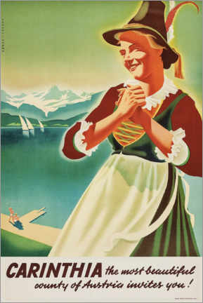 Poster  Carinthie, Autriche - Travel Collection