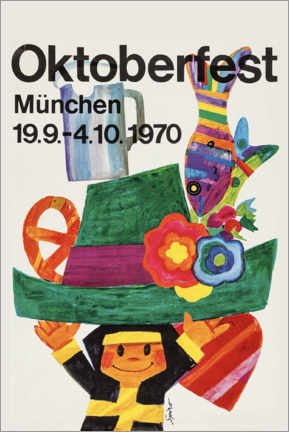 Tableau en verre acrylique  Oktoberfest 1970 - Travel Collection