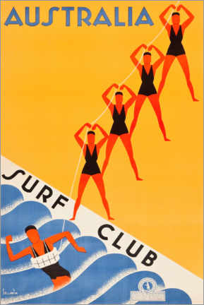 Poster  Surf Club Australia - Travel Collection