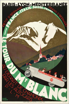 Poster  Le Tour du Mont Blanc - Travel Collection