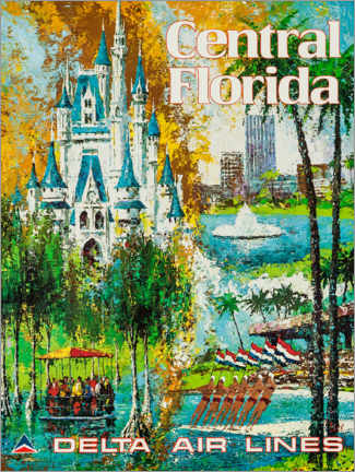 Poster  Central Florida, Delta Air Lines - Travel Collection