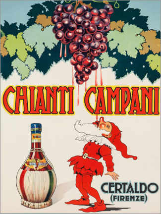 Tableau en bois  Chianti Campani - Advertising Collection