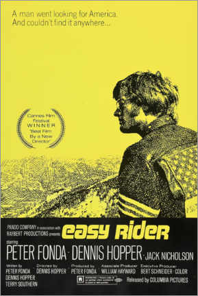 Tableau sur toile  Easy Rider (anglais) - Entertainment Collection
