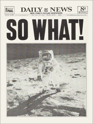 Poster  Sur la Lune - So What! - Entertainment Collection