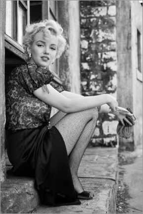 Tableau en plexi-alu  Marilyn en pause pendant un tournage - Celebrity Collection