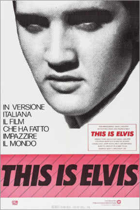 Tableau sur toile  This is Elvis (italien) - Entertainment Collection