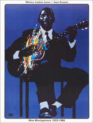Poster  Wes Montgomery 1923 - 1968 - Entertainment Collection