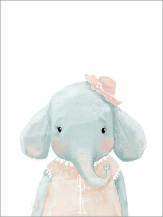 Poster  Mademoiselle Éléphant - Kidz Collection