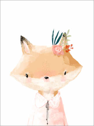 Tableau en plexi-alu  Mademoiselle Renard - Kidz Collection