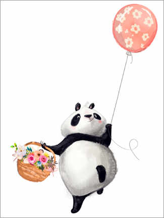 Poster  Panda avec un ballon - Kidz Collection