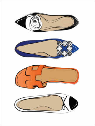 Poster  Chaussures de luxe - Martina illustration