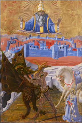 Poster Saint George tue le dragon