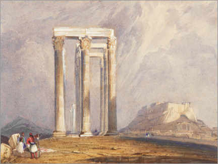Poster  Temple de Jupiter Olympus, Athènes - William Clarkson Stanfield