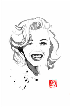 Poster Marilyn souriante