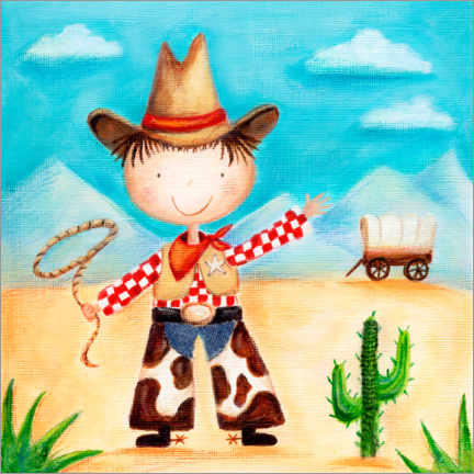 Poster  Petit cow-boy - Ileana Oakely