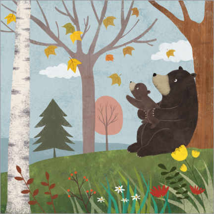 Poster  Ours en automne - Lucy Barnard